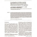 Η πρώτη σελίδα της περίληψης με τα συμπεράσματα της σεισμικής τομογραφίας που δημοσιεύτηκαν το 2004!!! Δέκα χρόνια πριν τις αποκαλύψεις της ανασκαφής