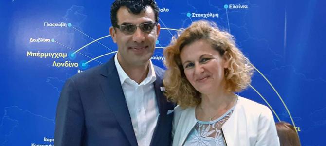 Αποτέλεσμα εικόνας για Με απόλυτη επιτυχία ολοκληρώθηκε η πρώτη συμμετοχή του Δήμου Καβάλας στην τουριστική έκθεση ΤΑΞΙΔΙ 2018 που πραγματοποιήθηκε από 20-22 Μαΐου στην Λευκωσία της Κύπρου. Η πρόεδρος της ΔΗΜΩΦΕΛΕΙΑ και της επιτροπής τουριστικής προβολής και ανάπτυξης, Αναστασία